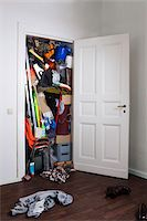 A closet stuffed with various storage items Stock Photo - Premium Royalty-Freenull, Code: 653-05393107