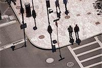 High angle view of people crossing a road, Atlantic Avenue, Congress Street, Boston, Massachusetts, USA Stock Photo - Premium Royalty-Freenull, Code: 6105-05395952