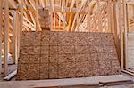 Roof sheathing in the upper floor of an under construction house Stock Photo - Premium Royalty-Freenull, Code: 6105-05396253