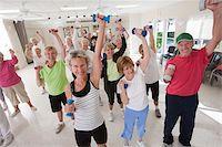Senior exercise class Stock Photo - Premium Royalty-Freenull, Code: 6105-05397084