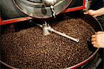 Coffee beans in coffee grinder Stock Photo - Premium Royalty-Free, Artist: Cultura RM, Code: 614-05399301