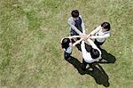 Businesspeople in a circle in field, high angle Stock Photo - Premium Royalty-Free, Artist: CulturaRM, Code: 614-05399767