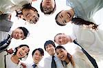 Businesspeople in a circle Stock Photo - Premium Royalty-Free, Artist: Cultura RM, Code: 614-05399781
