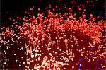 Red fibre optic lights Stock Photo - Premium Royalty-Free, Artist: Ikon Images, Code: 614-05399875