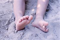 Legs of little girl in sand, low section Stock Photo - Premium Royalty-Freenull, Code: 632-05401099