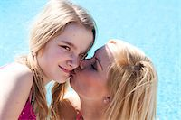 preteen kissing - holiday Stock Photo - Premium Royalty-Freenull, Code: 6106-05403994