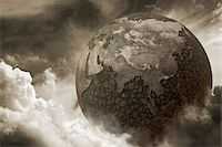Dry earth due to pollution Stock Photo - Premium Royalty-Freenull, Code: 6106-05405192
