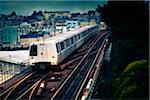 BART Train on Elevated Track Stock Photo - Premium Royalty-Free, Artist: Arcaid, Code: 6106-05405277