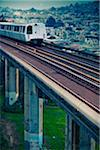 BART Train on Elevated Track Stock Photo - Premium Royalty-Free, Artist: Arcaid, Code: 6106-05405280
