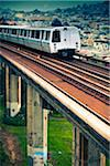 BART Train on Elevated Track Stock Photo - Premium Royalty-Free, Artist: Arcaid, Code: 6106-05405287