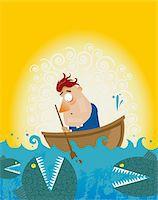 piranha fish - Dangerous Waters Stock Photo - Premium Royalty-Freenull, Code: 6106-05405821