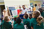 Teacher with preschool students in classroom Stock Photo - Premium Royalty-Free, Artist: Rick Gomez, Code: 6106-05405928