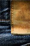 Leather patch on vintage jeans Stock Photo - Premium Royalty-Free, Artist: Chris Hendrickson, Code: 6106-05406572