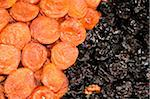 Sun dried apricots and prunes at farmer?s market