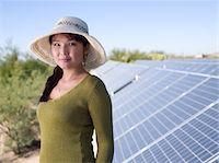 solar panel usa - Woman with Solar Panels Stock Photo - Premium Royalty-Freenull, Code: 6106-05410403