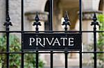 Private Sign Stock Photo - Premium Royalty-Free, Artist: AWL Images, Code: 6106-05412928