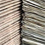 Stacks of newspapers Stock Photo - Premium Royalty-Free, Artist: Glowimages               , Code: 6106-05414338