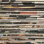 Stacks of newspapers Stock Photo - Premium Royalty-Free, Artist: Matt Brasier, Code: 6106-05414341