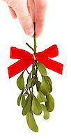 Hand Holding a Sprig of Fresh Mistletoe Stock Photo - Premium Royalty-Freenull, Code: 6106-05417026