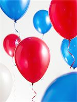 streamer - Red White and Blue Balloons with Streamers Stock Photo - Premium Royalty-Freenull, Code: 6106-05417861