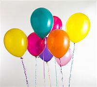 streamer - party balloons Stock Photo - Premium Royalty-Freenull, Code: 6106-05419222