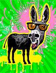 Donkey wearing sunglasses, laughing Stock Photo - Premium Royalty-Free, Artist: Robert Harding Images, Code: 6106-05420606
