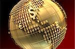 Globe with currency signs in shape of America Stock Photo - Premium Royalty-Free, Artist: Scott Tysick, Code: 6106-05421892