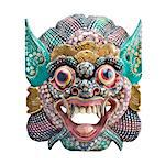 Close up of a Thai mask, isolated on white. Stock Photo - Premium Royalty-Free, Artist: Robert Harding Images    , Code: 6106-05422467