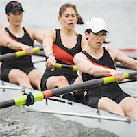 sport rowing teamwork - Female Rowing Crew Stock Photo - Premium Royalty-Freenull, Code: 6106-05422776