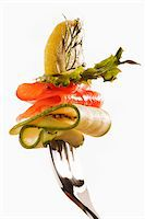 fork - Healthy salmon salad on a fork. Stock Photo - Premium Royalty-Freenull, Code: 6106-05425918