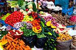 fruits and vegetables at open air market Stock Photo - Premium Royalty-Free, Artist: IIC, Code: 6106-05435786
