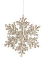 snowflakes  holiday - Silver Glitter Snowflake Holiday Ornament Stock Photo - Premium Royalty-Freenull, Code: 6106-05436156