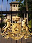The seal of Johor embellishing a gate. Stock Photo - Premium Royalty-Free, Artist: AWL Images, Code: 6106-05437427