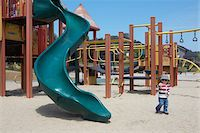 toddler in playground Stock Photo - Premium Royalty-Freenull, Code: 6106-05443851