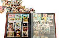 stamped - Postage stamps collection Stock Photo - Premium Royalty-Freenull, Code: 6106-05445537