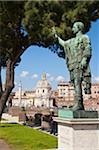 Rome, the Forum, statue of Cesar Stock Photo - Premium Royalty-Freenull, Code: 6106-05446390