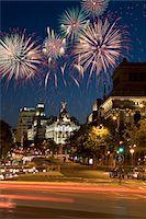 Fireworks above Grand Via, Madrid, Spain Stock Photo - Premium Royalty-Freenull, Code: 6106-05447916