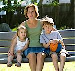 Young Mother, son and daughter Stock Photo - Premium Royalty-Freenull, Code: 621-05450253
