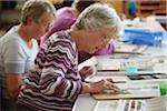 senior women in a community art class Stock Photo - Premium Royalty-Freenull, Code: 621-05450265