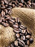 Coffee beans on burlap sack Stock Photo - Premium Royalty-Free, Artist: Albert Normandin, Code: 618-05450897