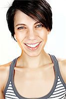 Close-Up of Woman in Studio Stock Photo - Premium Rights-Managednull, Code: 700-05451021