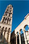 Bell Tower of Cathedral of Saint Domnius and Peristyle, Diocletian's Palace, Split, region of Dalmatia, Croatia Stock Photo - Premium Rights-Managed, Artist: Emanuele Ciccomartino, Code: 700-05451895