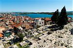 Overview of Town and Cemetery, Sibenik, Dalmatia, Croatia Stock Photo - Premium Rights-Managed, Artist: Emanuele Ciccomartino, Code: 700-05452056