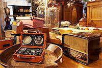 Old Radios on Display in Antiques Shop, Edinburgh, Scotland, United Kingdom Stock Photo - Premium Rights-Managednull, Code: 700-05452117