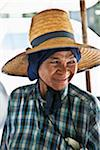 Portrait of Woman Wearing Straw Hat Stock Photo - Premium Rights-Managed, Artist: dk & dennie cody, Code: 700-05452189