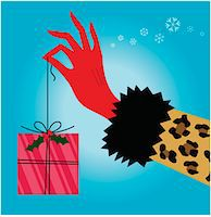 present wrapped close up - Woman holding Christmas gift, close-up of hand Stock Photo - Premium Royalty-Freenull, Code: 6106-05455862