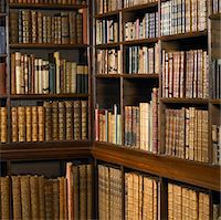 Shelves of old books in library Stock Photo - Premium Royalty-Freenull, Code: 6106-05459279
