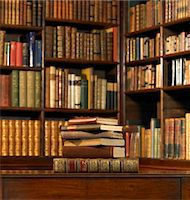 Stack of old books in library Stock Photo - Premium Royalty-Freenull, Code: 6106-05459280