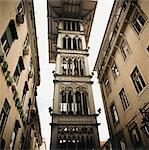 Lift Tower in Lisbon Street Stock Photo - Premium Royalty-Free, Artist: Arcaid, Code: 6106-05469196