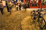 Ireland, Dublin, Temple Bar, street at night (long exposure) Stock Photo - Premium Royalty-Free, Artist: ableimages, Code: 6106-05471099